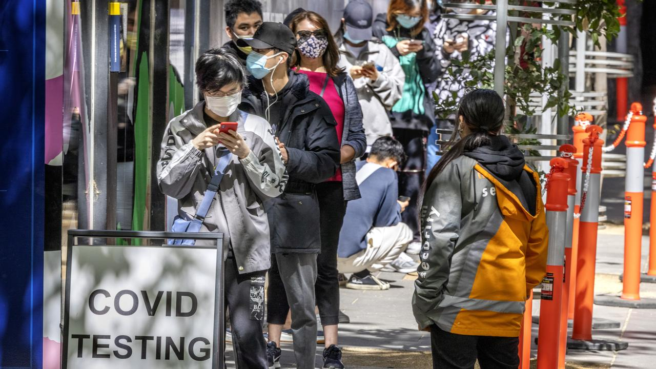 Covid testing rates are high in Victoria. Picture: David Geraghty